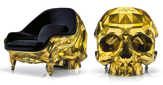 Harow Unveils A $500K Golden Skull Armchair