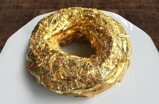 This 24-Karat Golden Cristal Ube Donut Will Set You Back $100
