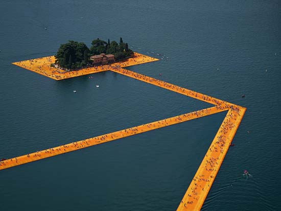 Christo's 'Floating Piers' Artwork Lets You Walk on Water
