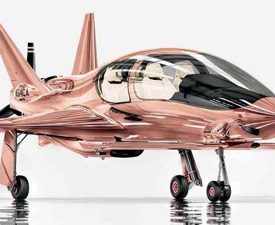 Cobalt Valkyrie X Rose Gold Private Plane Is A Treat For Our Eyes