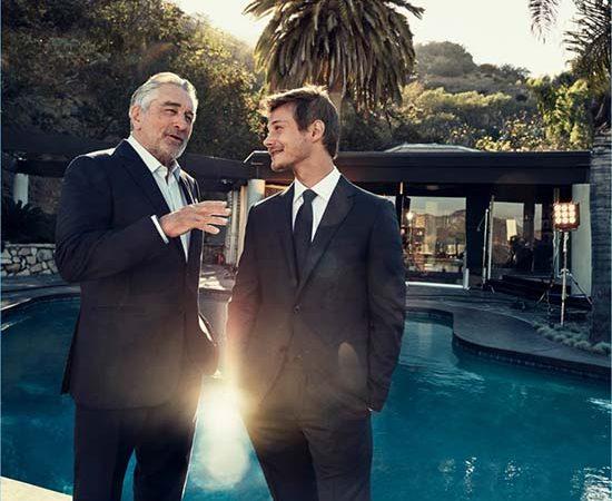 Robert De Niro & McCaul Lombardi for Ermenegildo Zegna