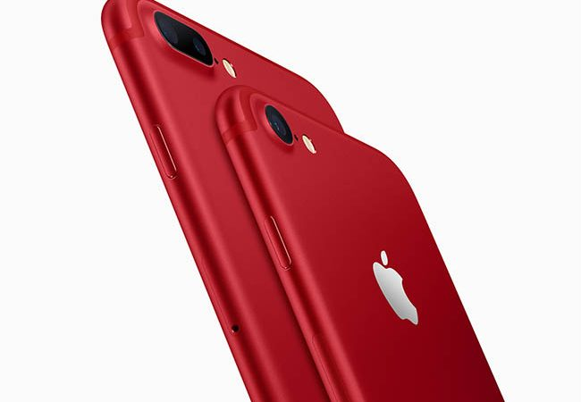 Apple unveils iPhone 7 (Product)RED Special Edition