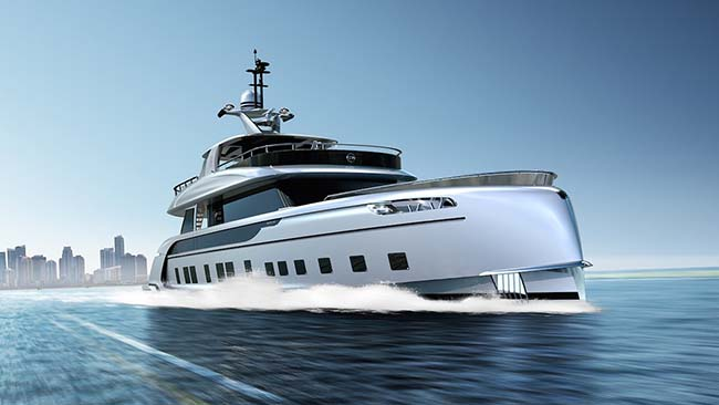 Dynamiq GTT 115 Hybrid Superyacht Plans to Rock the Monaco Yacht Show