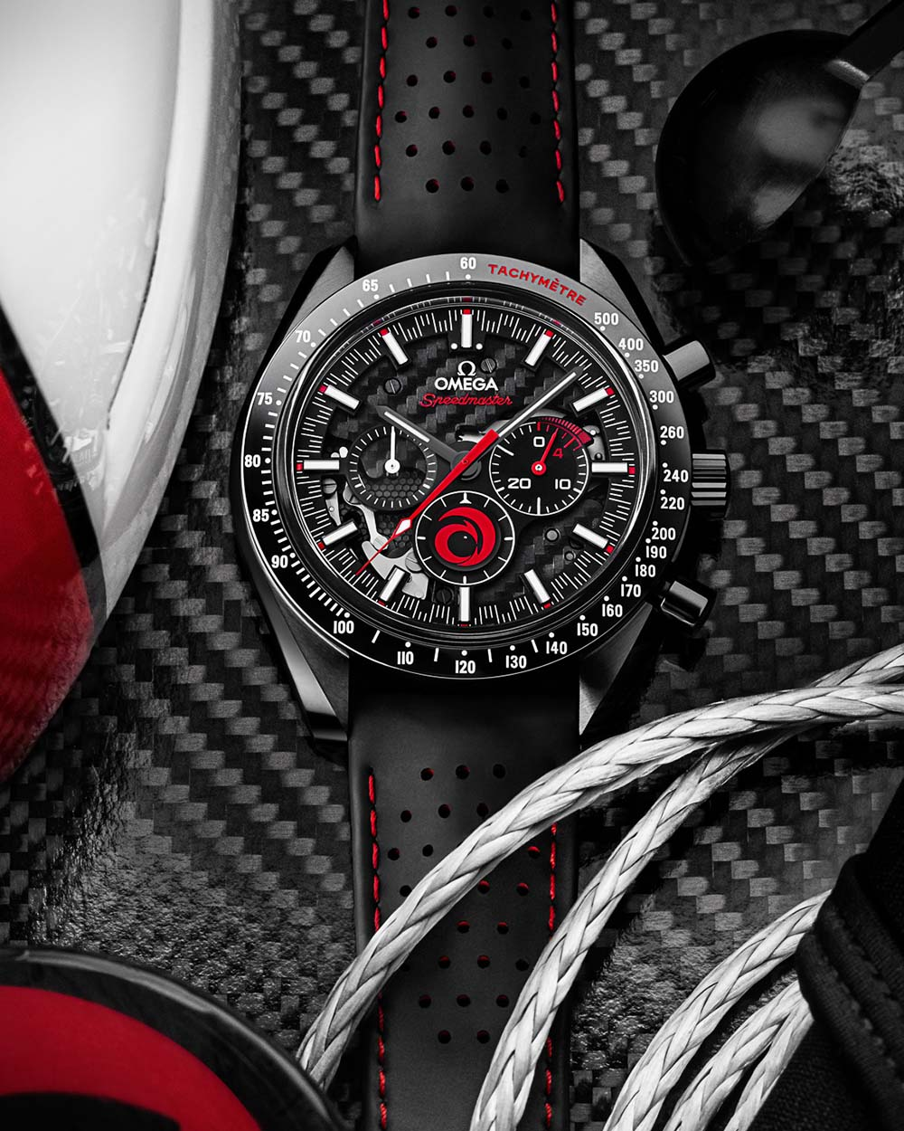 Omega x Alinghi Unveil New Speedmaster Dark Side of the Moon Watch