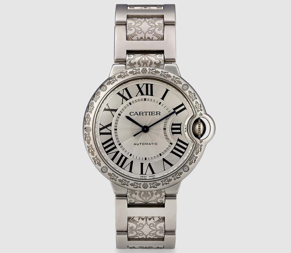 MAD Paris Unveils Engraved Cartier Ballon Bleu Watch