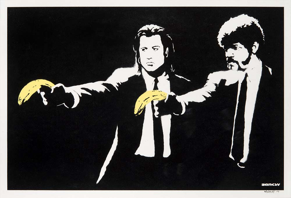 Banksy's Pulp Fiction Print Fetches Over $160K At Auction