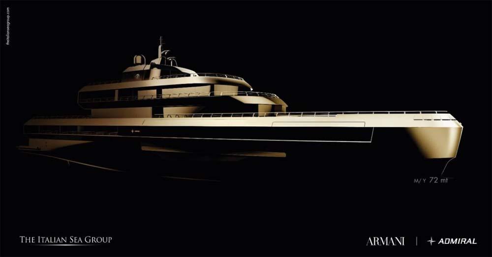 Giorgio Armani Team Up With Italian Sea Group On 72m Superyacht Project