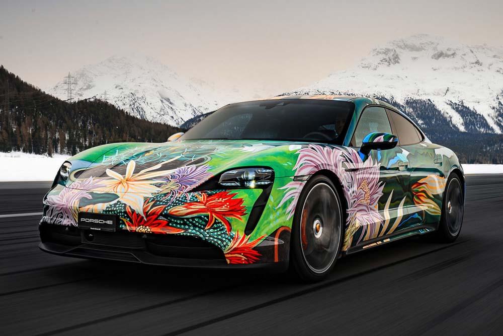Porsche Taycan 4S Artcar by Richard Phillips