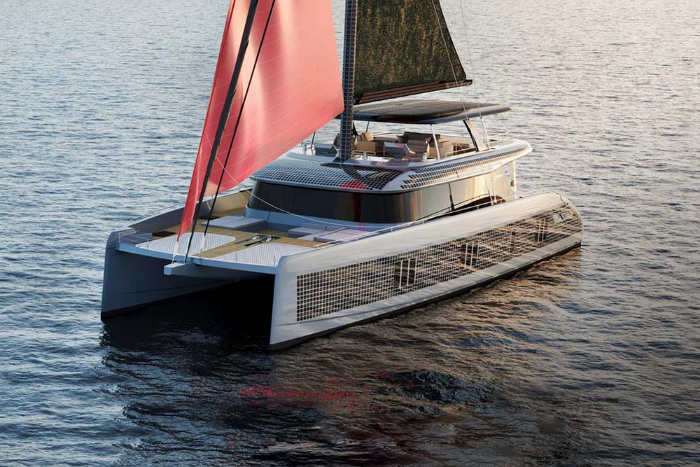 Sunreef 80 Eco Yacht Pairs Solar and Wind Energy for Unlimited Range